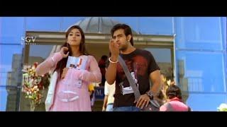 Chiru Sarja scolding friends infront of Lover | Gandede Kannada Movie | Kannada Comedy Scenes