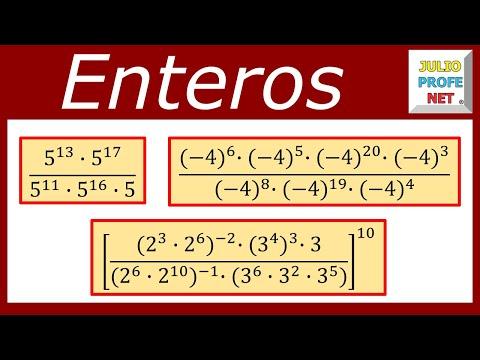 Potenciación de números enteros Ejercicios 1 2 y 3