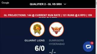 Sunrisers hyderabad vs Gujarat lions live ipl 2016 highlets