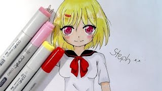 Let´s Speed Draw an Anime School Girl ♥ Steph ^.^
