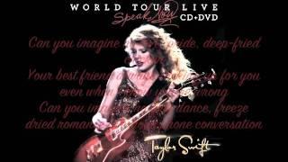 Taylor Swift- Drops of Jupiter Speak Now World Tour