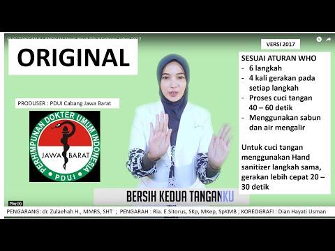 Cuci Tangan 6 Langkah Hand Wash Pdui Cabang Jabar 2017