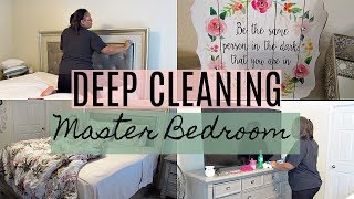DEEP CLEANING MY MASTER BEDROOM | Destiny's Life
