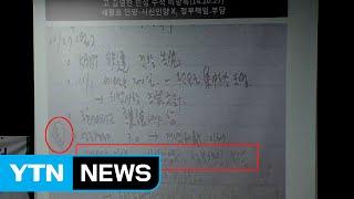 김기춘, 김영한 비망록
