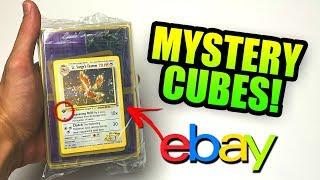 OPENING *MEGA* POKEMON MYSTERY CUBES FROM EBAY! (1st Edition Pokemon Cards!)