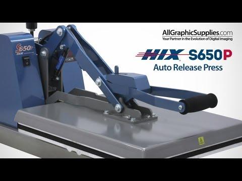 HIX S650P Auto-Open Clamshell Heat Press Requiring No Air - All Graphic Supplies