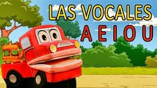 Barney el camion - Cantando Las Vocales - A E I O U - Video para niños #