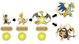 Charmander Evolution Electric Type Fanart | Pokemon Type Swap #41