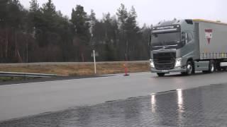 Volvo Trucks - Emergency braking at its best!