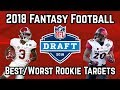Best and Worst Fantasy Rookie Targets | 2018 Fantasy Football