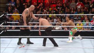 Alberto Del Rio vs. Big Show - Raw Roulette Body Slam Challenge: Raw, Jan. 28, 2013