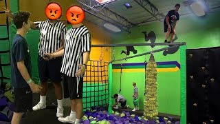 CRAZY TRAMPOLINE PARK DARES! (THEY WERE PISSED) | Challenges | FaZe Rug
