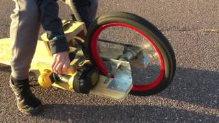 Electric Long Board Powered by Drill
