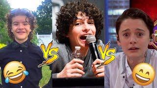Finn Vs Gaten Vs Noah  - Who Is Funnier? 😊😊😊 - CUTE AND FUNNY MOMENTS ( Stranger Things 2017 )