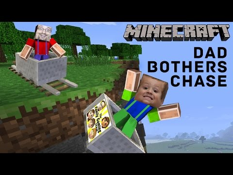 3 Yr Old Chase plays MINECRAFT PE & Dad Bothers Him... A Lot!  Roller Coaster Push (FGTEEV Gameplay)