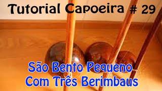 SÃO BENTO PEQUENO COM TRÊS BERIMBAUS
