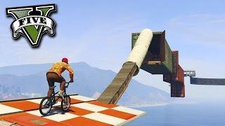 GTA V Online: DESAFIO dos FININHOS de BMX muito TENSO!!
