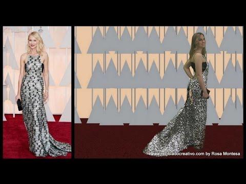 Vestido de Oscar con plástico How to make a red carpet dress with plastic