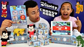 CROSSY ROAD GAMEPLAY CHALLENGE! New Disney Crossy Road Characters Surprise Toys Opening