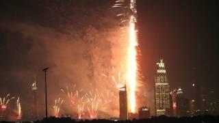 New Year Fireworks Dubai 2017 - Burj Khalifa Fireworks Live Show 4K