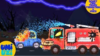 Umi Uzi | Scary Fire Truck | Make Over | scary vehicles | Video For Kids
