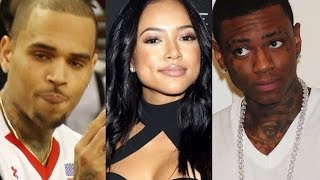 Karrueche Disses Chris Brown after he mentions her in his beef with Soulja Boy. Soulja Clowns Chris.