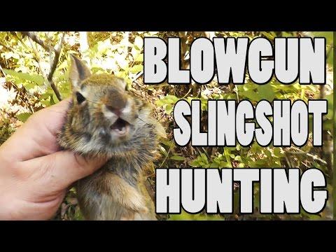 Blowgun Slingshot Hunting Ep. 6 Rabbit and Squirrel Kill