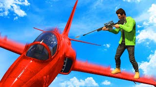 SNIPE THE JETS AT 300MPH! (GTA 5 Funny Moments)
