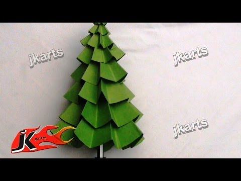 How to make Paper Christmas Tree | DIY Christmas decorations | JK Arts  082