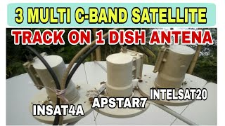 3 MULTI SATELLITE SETUP || INSAT4A,APSTAR,INTELSAT20 SATELLITE
