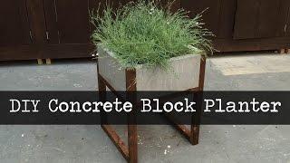 Modern Concrete Paver Planter DIY Tutorial