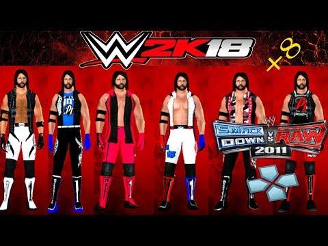 SvR 2011 Aj Styles Coleccion de Textura 2011/2k18 PSP | MS. WWE