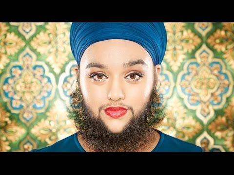 Sikh girl with beard /   दाढ़ी मूछ वाली सिख लड़की