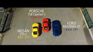 Ford Mustang GT, Porsche 718 Cayman S, Nissan 370z, GOoo Le Mans