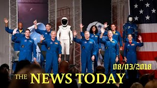 NASA Names Astronauts For First Manned U.S. Space Launches Since 2011 | News Today | 08/03/2018...