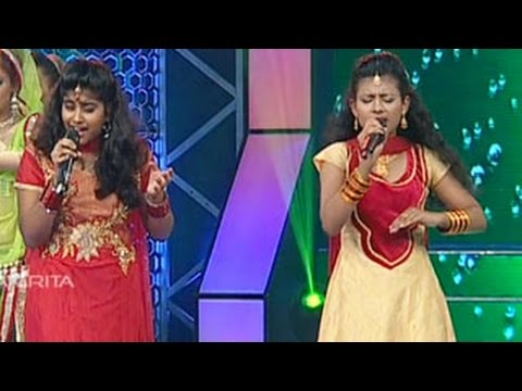 Sreelekshmi & Anjana Singing Dola Re Dola from the movie Devdas in Super Star Junior- 5