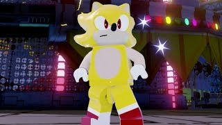LEGO Dimensions - Super Sonic Free Roam Gameplay (Sonic the Hedgehog World)