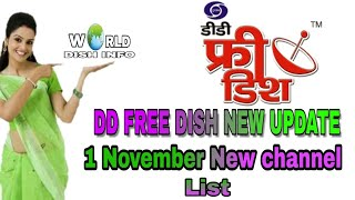 1 November 2017 latest DD FREE DISH update and New channel list