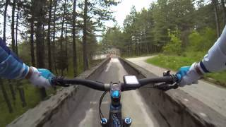 Trebevic - '84 Sarajevo Winter Olympics bobsleigh track bike run