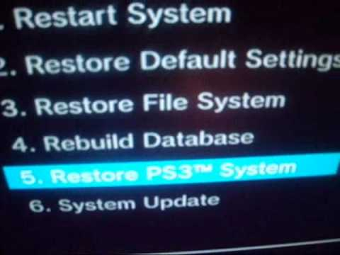 Ps3 restore file system stuck at 45