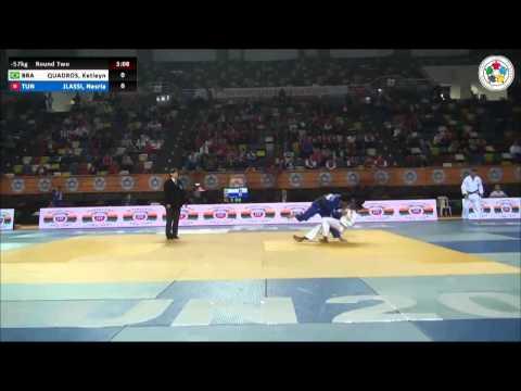 Ketleyn QUADROS (BRA) Vs Nesria JLASSI (TUN) - Judo Grand Prix Samsun 2014 [-57kg]