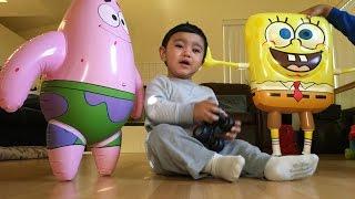 Sponge Bob Square Pant Patrick and Thomas and Friends Toy Train