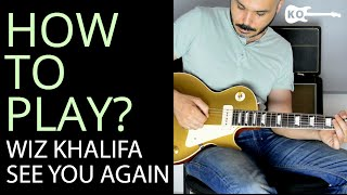 How to Play -  See You Again by Wiz Khalifa on Electric Guitar - Guitar Lesson Tutorial