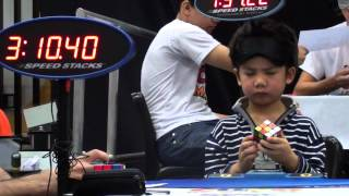 Chan Hong Lik 5 yrs old Youngest Blindfolded Rubik´s Cube Solver in the World
