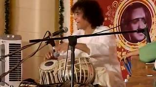 Ustad Zakir Hussain in a good mood. Glimpse from the concert