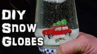 DIY Christmas Snow Globe Decoration