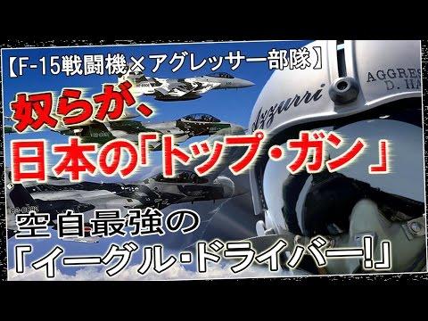 【F 15戦闘機×アグレッサー部隊】奴らが、日本の「トップ・ガン」空自最強の「イーグル・ドライバー!」そのパワーと旋回能力で、空中戦・接近戦(ドッグファイト)を得意とするF-15戦闘機
