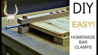 Crazy Easy Homemade Bar Clamps | DIY