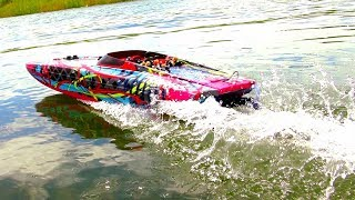 "RC ADVENTURES - THRiLL RiDE! M41 40"" Speed Boat w/ 6 Passengers  - 6S Lipo POWER!"
