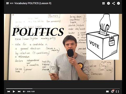 Vocabulary POLITICS (Lesson 9)